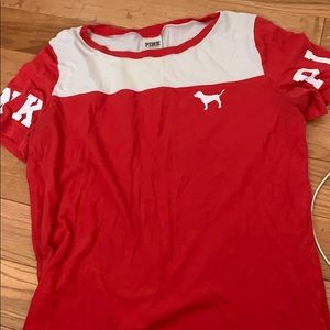 red PINK shirt